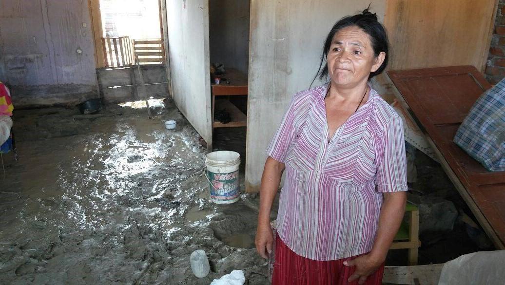 Peru, Piura - zalane domy na slumsach