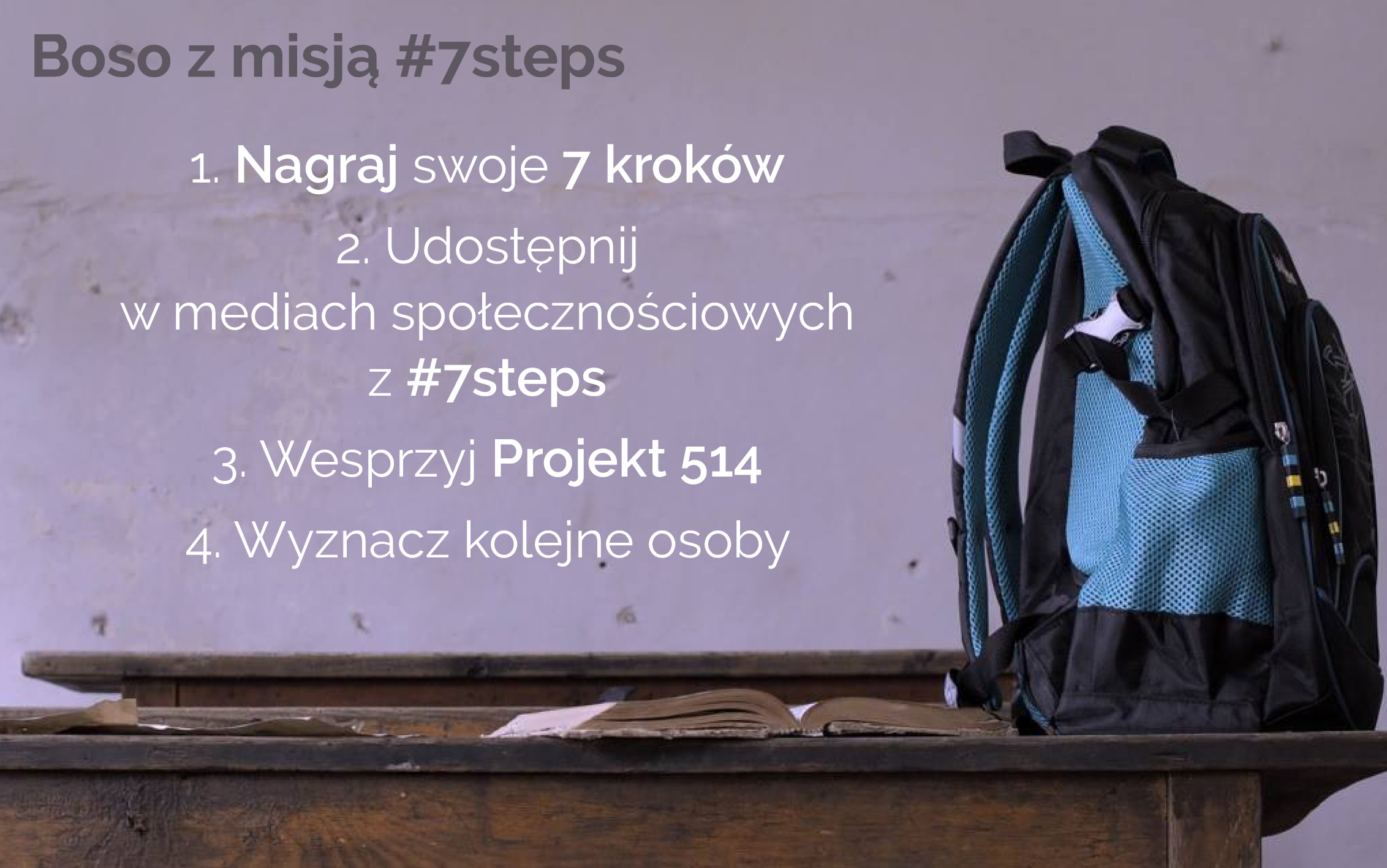 KAMPANIA - #7STEPS - BOSOS Z MISJĄ - INSTRUKCJA